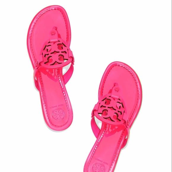 Tory Burch Shoes Miller Sandals Fluorescent Fuchsia Pink Poshmark